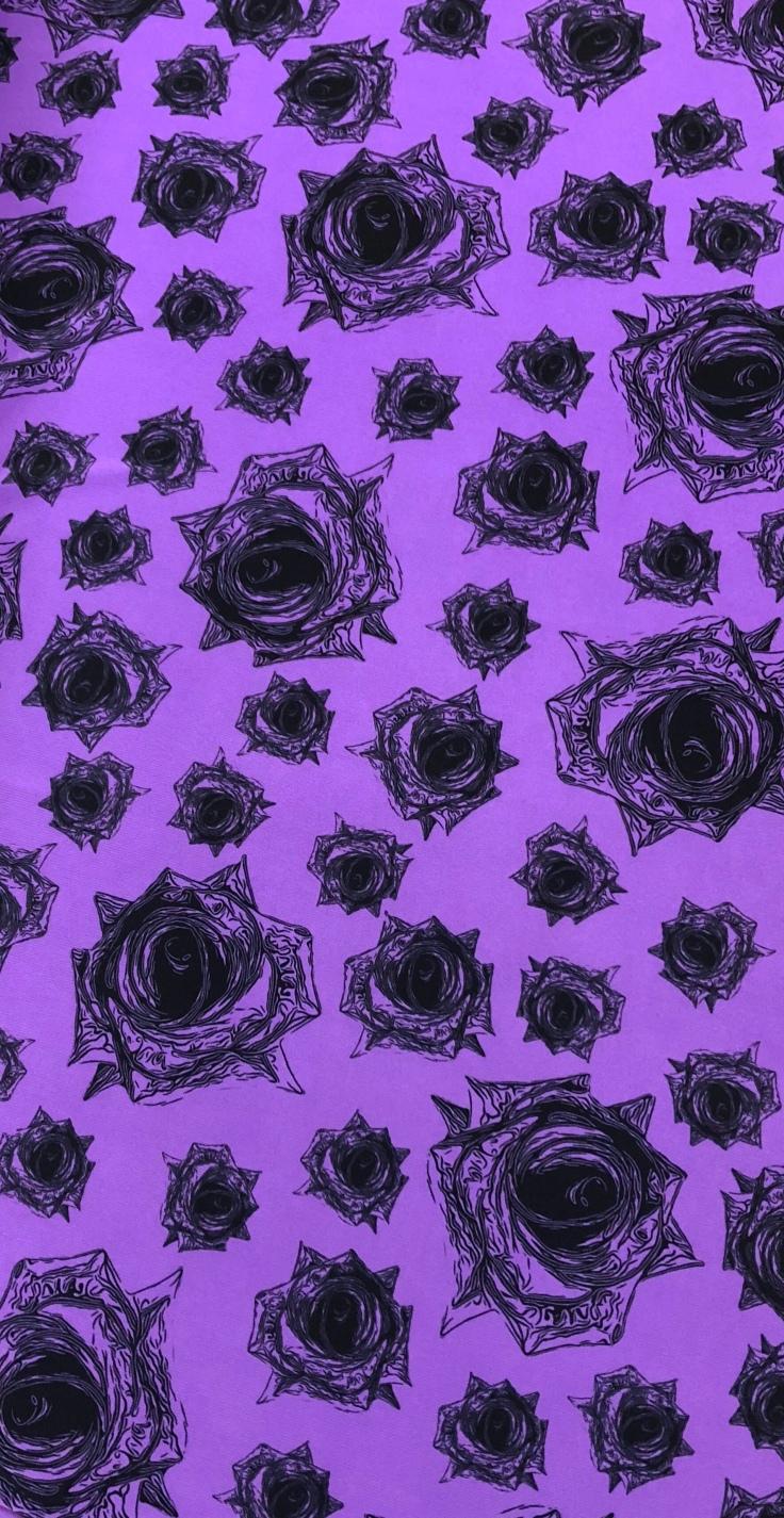 A Lilac rose print.